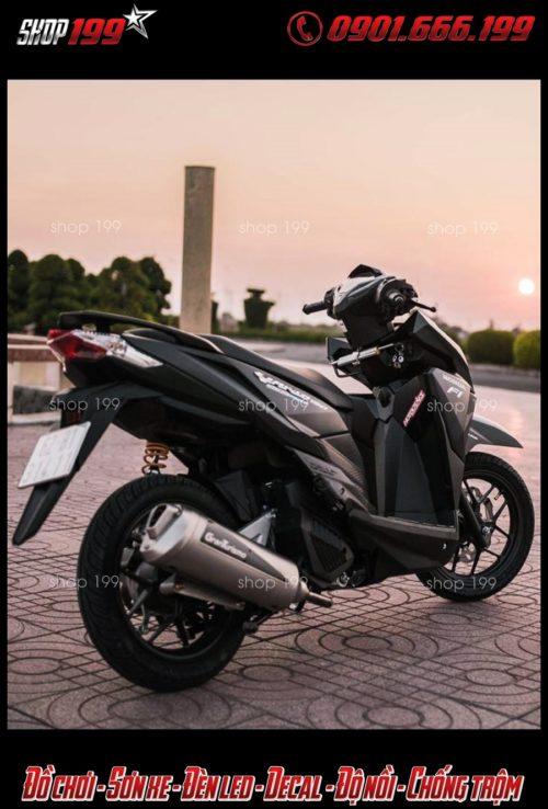 Pô Granturismo màu bạc đẳng cấp độ cho Honda Vario 150