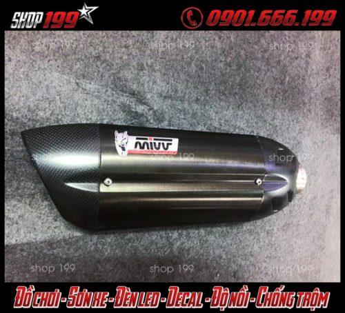 Pô Mivv màu đen cực đẹp dành cho xe Honda Vario 150 và Click Thái 125 tại HCM