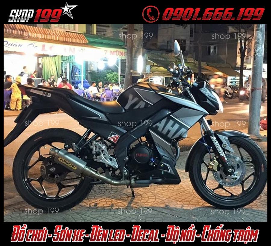 Xe Yamaha fz màu xám độ pô Arrow cực chất và đẹp