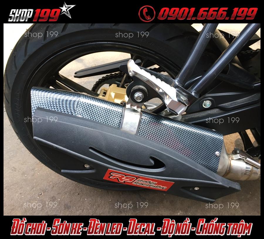 Yamaha Fz 150 độ pô R9 màu carbon cực độc và chất tại HCM