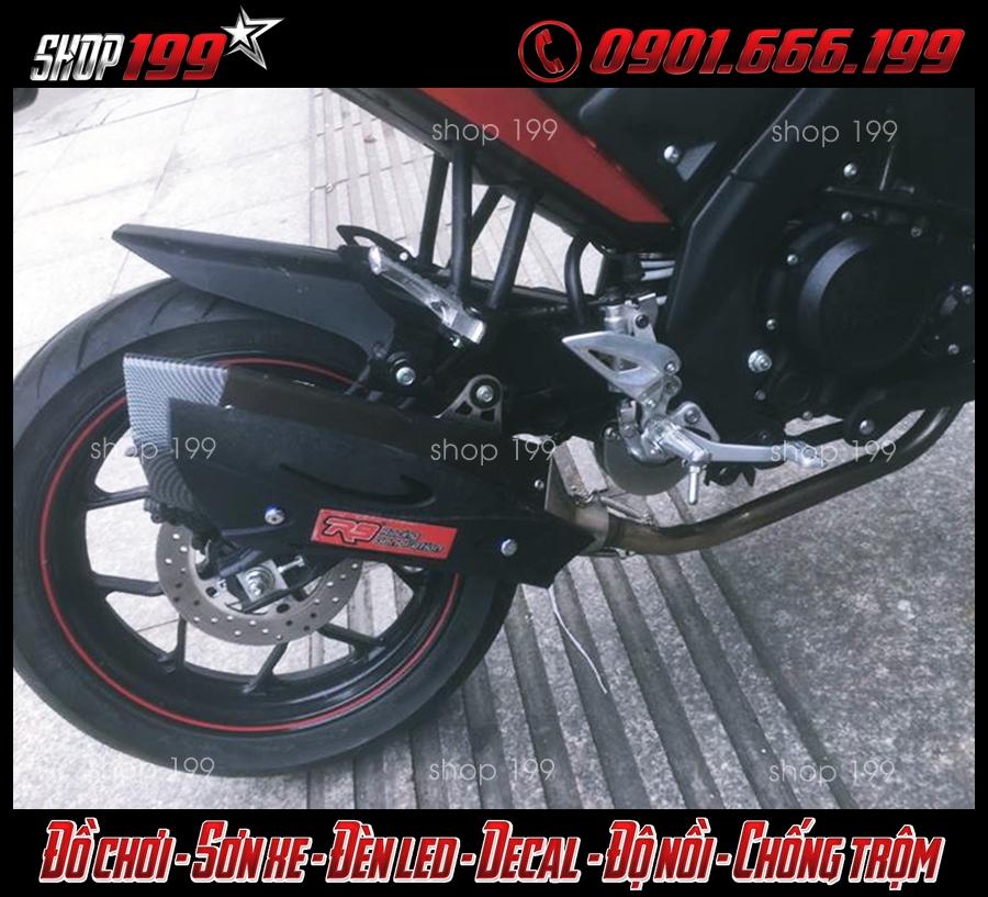 Yamaha TFX đỏ đen độ pô R9 màu đen cực ngầu