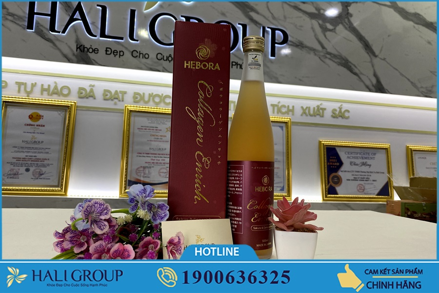 Nước Uống Collagen Hebora Enrich Nhật Bản giá bao nhiêu?